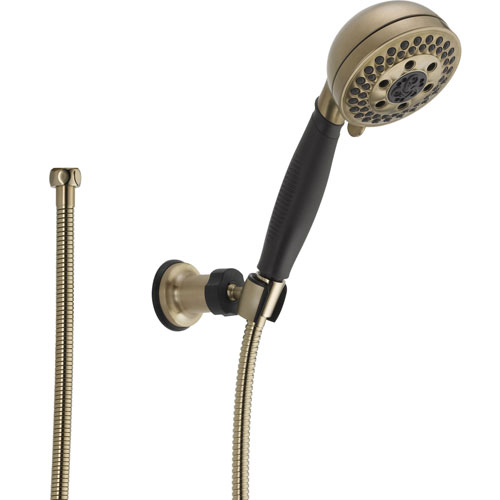 Delta 5-Spray H2Okinetic Champagne Bronze Wall Mount Hand Shower Head 604306