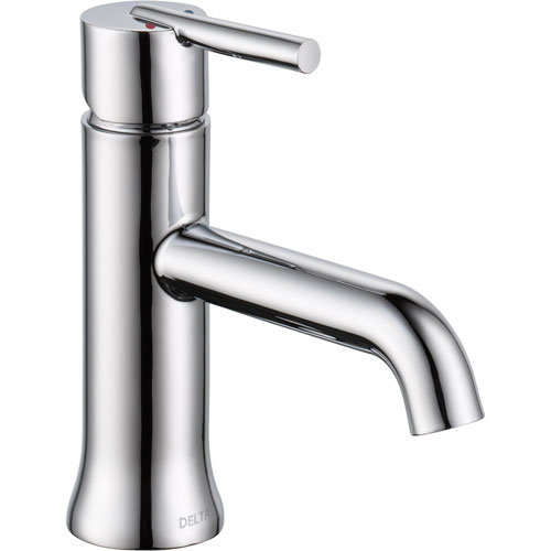 Delta Trinsic Modern Single Handle 1 Hole Chrome Bathroom Sink Faucet 614934