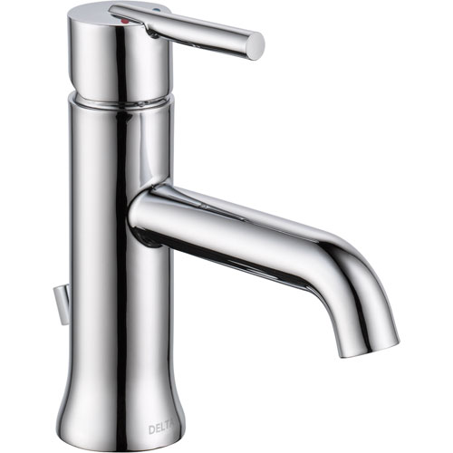 Delta Trinsic Modern Single Handle 1 Hole Chrome Bathroom Sink Faucet 590135
