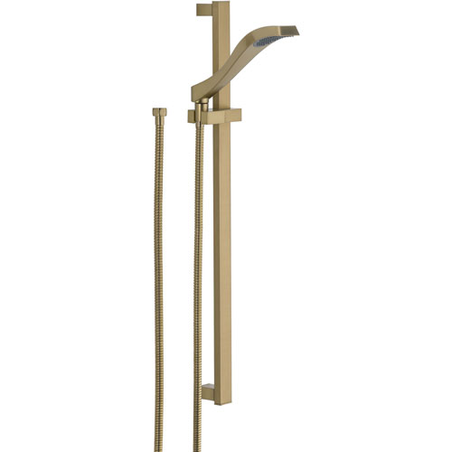 Delta Champagne Bronze Modern Handheld Showerhead Faucet with Slide Bar 563282