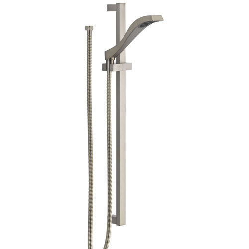 Delta Stainless Steel Finish Handheld Showerhead Faucet with Slide Bar 526551