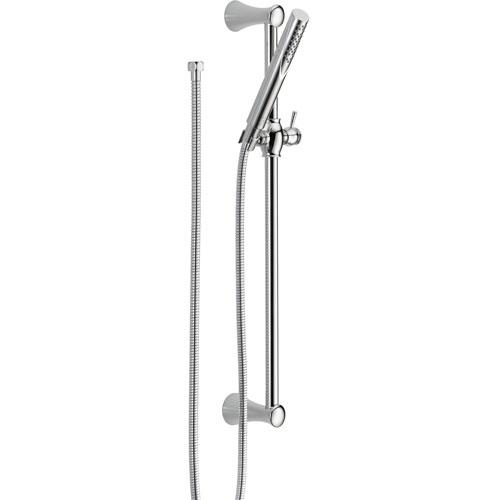 delta trinsic modern wall mount slide bar with handheld shower head 52. Black Bedroom Furniture Sets. Home Design Ideas