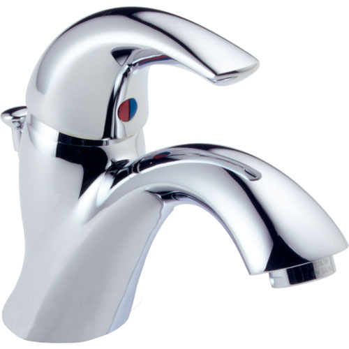 Delta Classic Chrome Single Handle 1-Hole Mid Arc Bathroom Sink Faucet474292