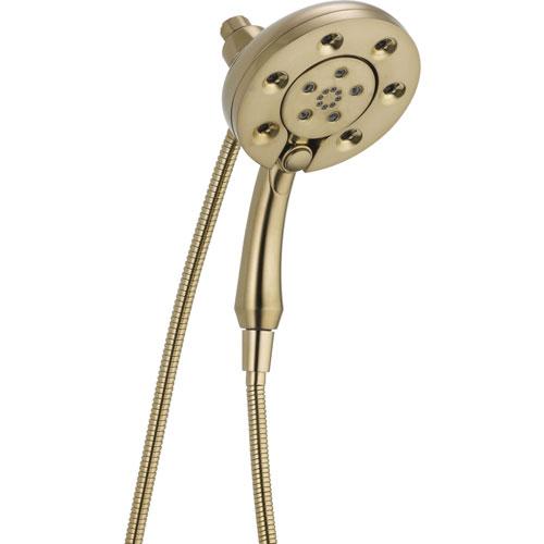 Delta In2ition Modern 2-in-1 Champagne Bronze Handheld Spray/Shower Head 604336