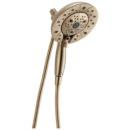 Delta Universal Showering Components Champagne Bronze In2ition 5-Setting Shower Arm Mount Two-in-One Hand Shower and Showerhead Combination D58480CZPK