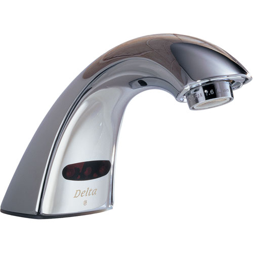 Delta Commercial Battery-Powered Touchless Lavatory Faucet in Chrome 608647
