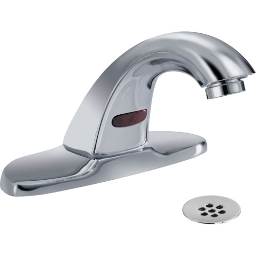 Delta Commercial Battery-Powered Touchless Lavatory Faucet in Chrome 608646