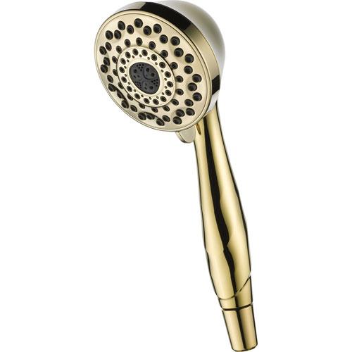 Delta 7-Spray Touch-Clean Polished Brass Handheld Shower Sprayer 561252
