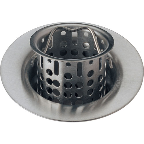 Delta 2-7/8 inch Stainless Steel Finish Bar Sink Basket Strainer & Flange 536641