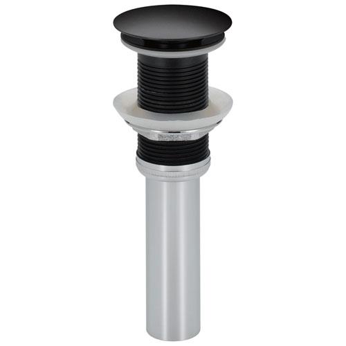 Delta Zura Collection Matte Black Finish Push Pop-Up Bathroom Sink Drain without Overflow D72172BL