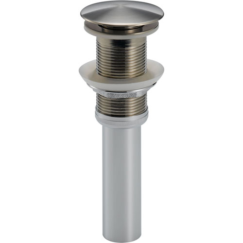 Delta Stainless Steel Finish Push-Up Bathroom Sink Drain without Overflow 609646