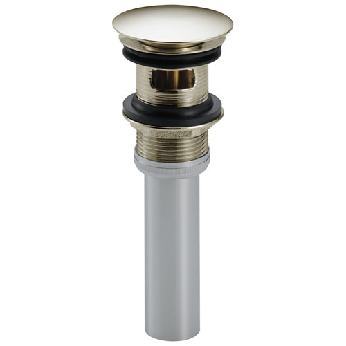 Delta Polished Nickel Finish Push Pop-Up Bathroom Sink Drain with Overflow D72173PN
