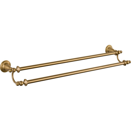 Delta Victorian Traditional Champagne Bronze 24 inch Double Towel Bar 555915