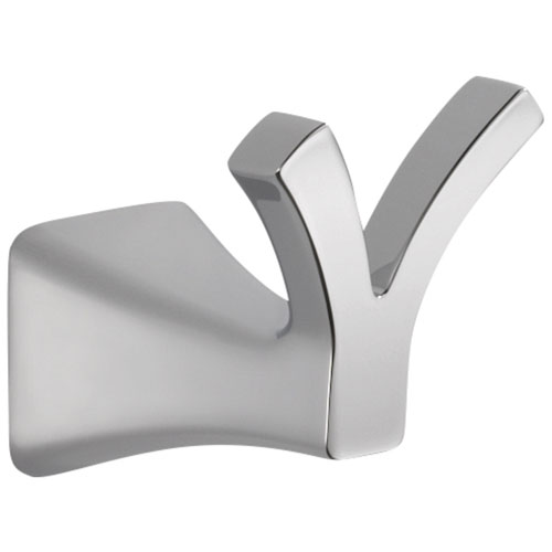 Delta Tesla Collection Chrome Finish Wall Mounted Modern Double Robe Hook 714272