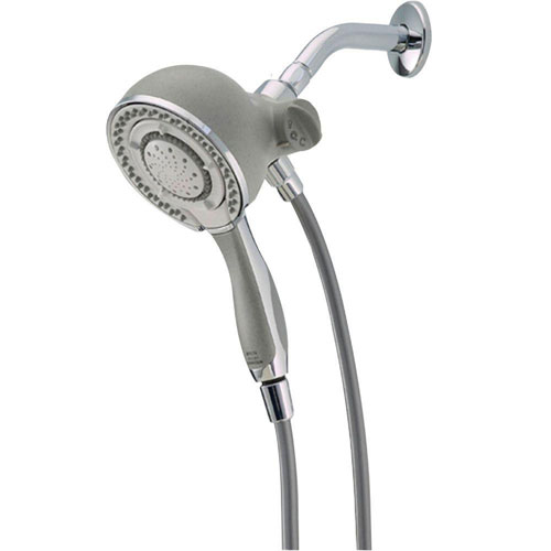 Delta In2ition 2-in-1 Chrome Shower Arm Mount Hand Held Spray/Shower Head 601724