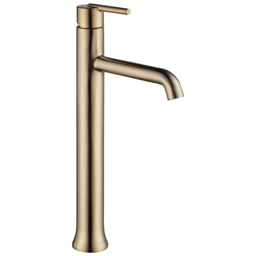 Delta Trinsic Collection Champagne Bronze Finish One Hole Modern Vessel Sink Lavatory Bathroom Faucet D759CZDST