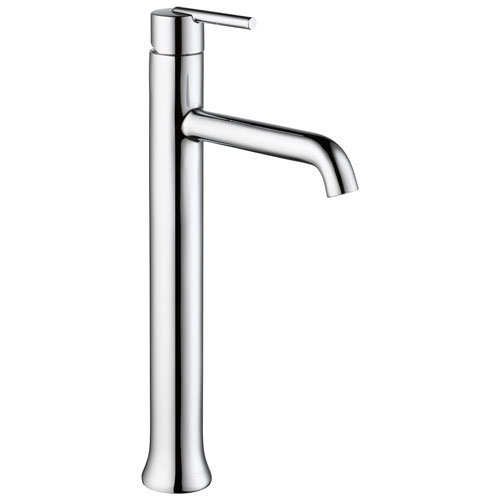 Delta Trinsic Collection Chrome Finish Single Handle One Hole Modern Vessel Sink Lavatory Bathroom Faucet D759DST
