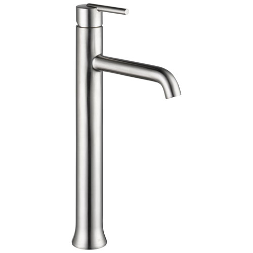 Delta Trinsic Collection Stainless Steel Finish Single Handle One Hole Modern Vessel Sink Lavatory Bathroom Faucet D759SSDST