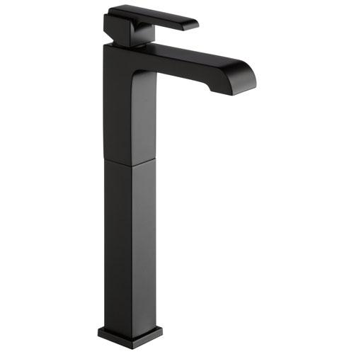 Delta Ara Collection Matte Black Finish Single Handle Tall Vessel Bathroom Lavatory Sink Faucet D767LFBL
