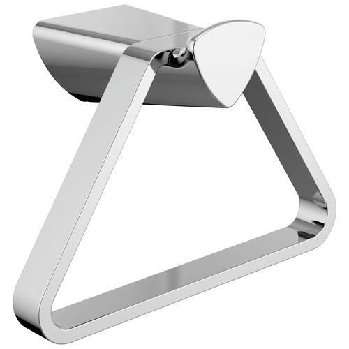 Delta Zura Collection Chrome Finish Modern Triangular Wall Mounted Hand Towel Holder D77446