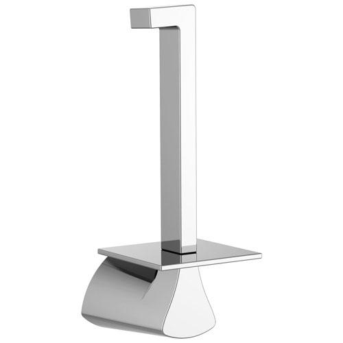 Delta Zura Collection Chrome Finish Modern Vertical Post Toilet Tissue Paper Holder D774505
