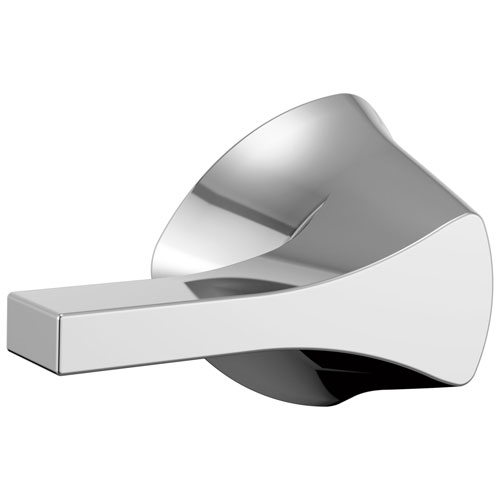 Delta Zura Collection Chrome Finish Modern Universal Mount Toilet Tank Flush Lever Handle D77460