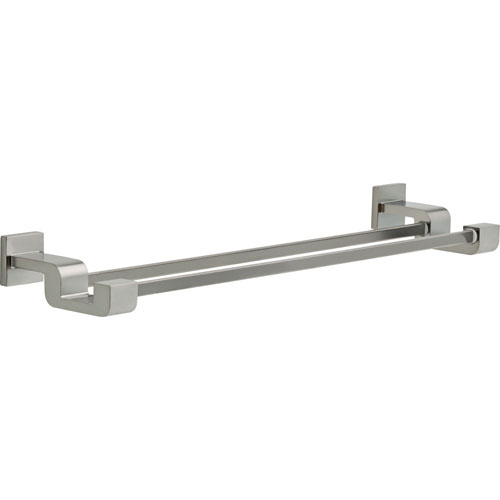 Delta Ara Modern 24 inch Stainless Steel Finish Double Towel Bar 638876