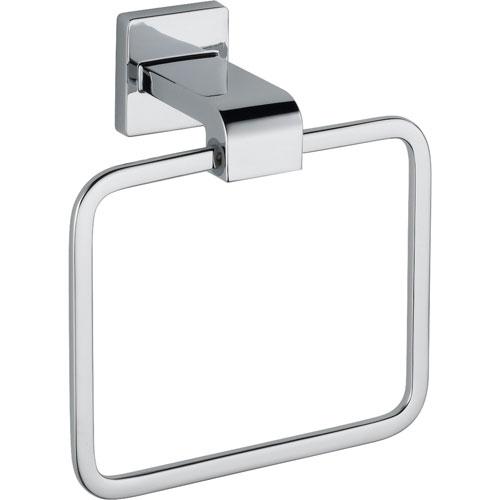 Delta Arzo Modern Chrome Square Hand Towel Ring 353157
