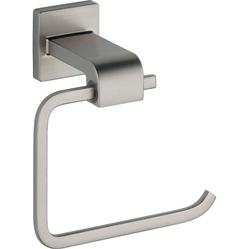 Delta Ara Stainless Steel Finish Modern Single Post Toilet Paper Holder 353217