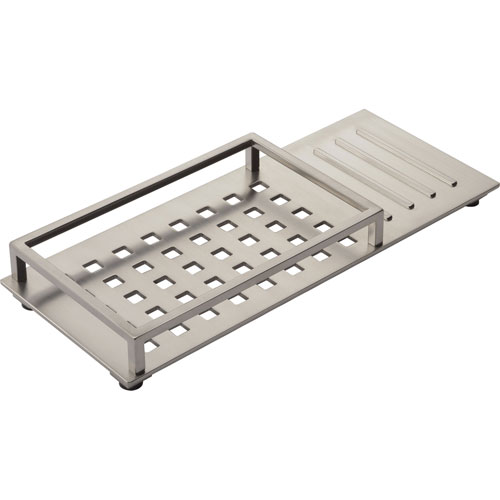 Delta Vero Modern Stainless Steel Finish Vanity Tray with Rubber Feet 521884
