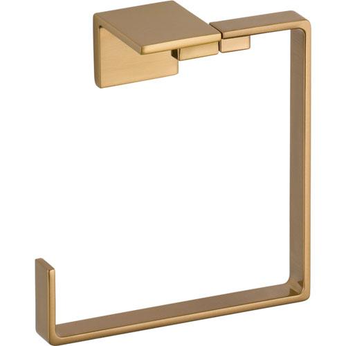 Delta Vero Modern Champagne Bronze Square Hand Towel Ring 556035