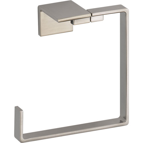 Delta Vero Modern Stainless Steel Finish Square Hand Towel Ring 521902