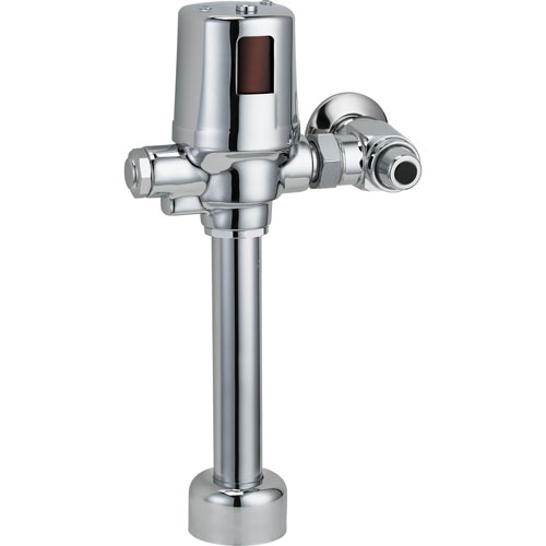 Delta Commercial Exposed Battery-Operated Flush Valve in Chrome 608658