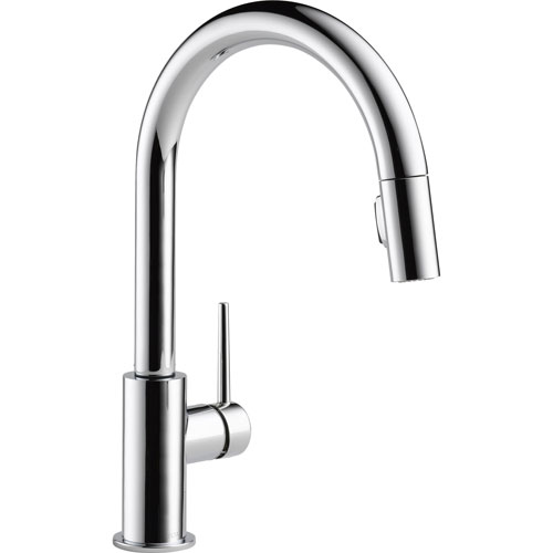 Delta Trinsic Modern Chrome Pull-Down Sprayer Kitchen Sink Faucet 542660