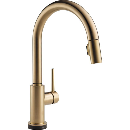 Delta Trinsic Touch2O Champagne Bronze Pull-Down Sprayer Kitchen Faucet 556056