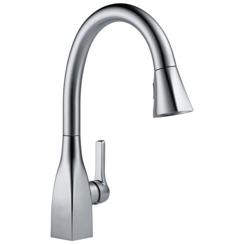 Delta Mateo Collection Arctic Stainless Steel Finish Modern Single Lever Handle Pull-Down Kitchen Sink Faucet 729167