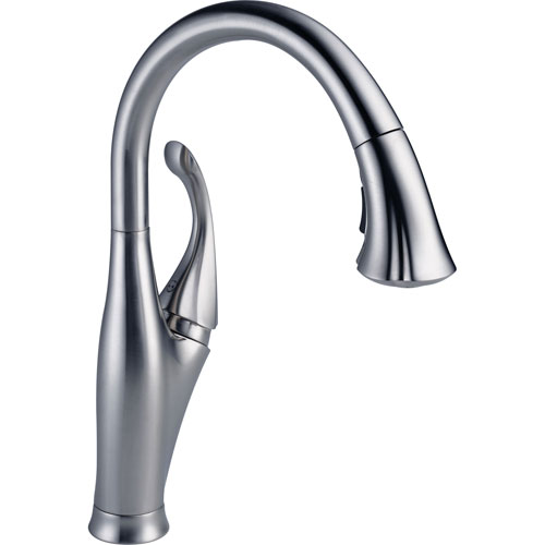Delta Addison Arctic Stainless Pull-Down Sprayer Kitchen Sink Faucet 610454