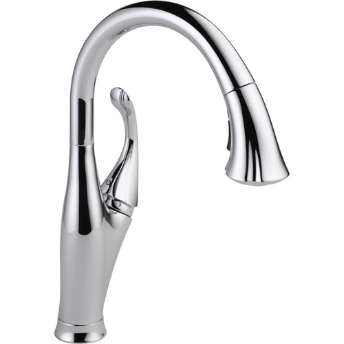 Delta Chrome Single Handle Water Efficient Pull-Down Kitchen Faucet 521974