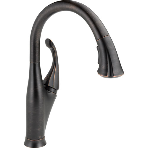 Delta Venetian Bronze Single Handle Pull-Down Spray Kitchen Faucet 521976