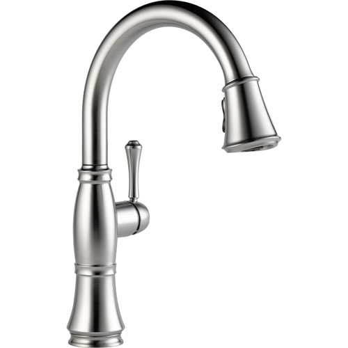 Delta Cassidy Arctic Stainless Finish Pull-Down Sprayer Kitchen Faucet 579589