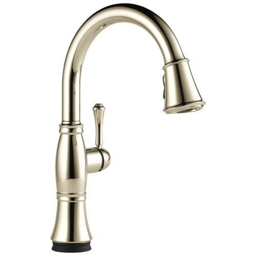 Delta Cassidy Collection Polished Nickel One Handle Electronic One Hole Pull-Down Swivel Spout Kitchen Sink Faucet with Touch2O Technology D9197TPNDST