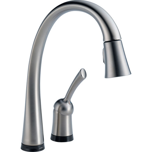 Delta Pilar Touch2O Arctic Stainless Pull-Down Sprayer Kitchen Faucet 556110