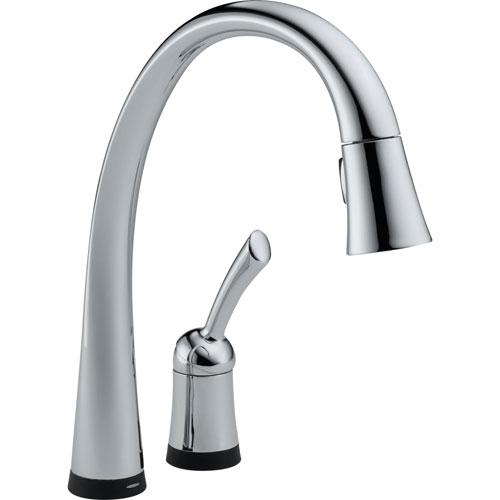 Delta Pilar Touch2O Chrome Finish Pull-Down Sprayer Kitchen Faucet 460696