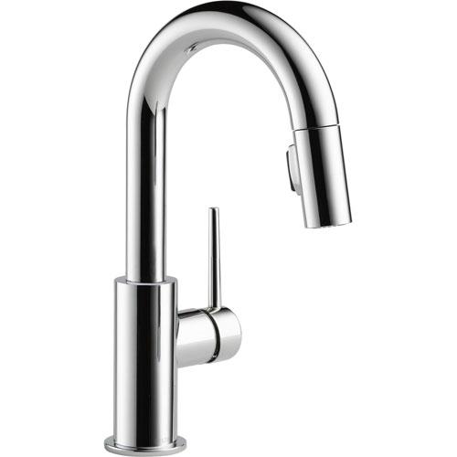Delta Trinsic Modern Chrome Single Handle Pull-Down Sprayer Bar Faucet 542656