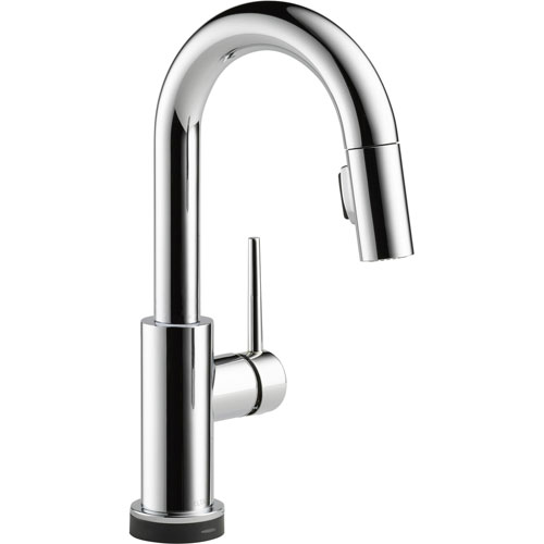 Delta Trinsic Touch2O Modern Chrome Finish Pull-Out Sprayer Bar Faucet 556058