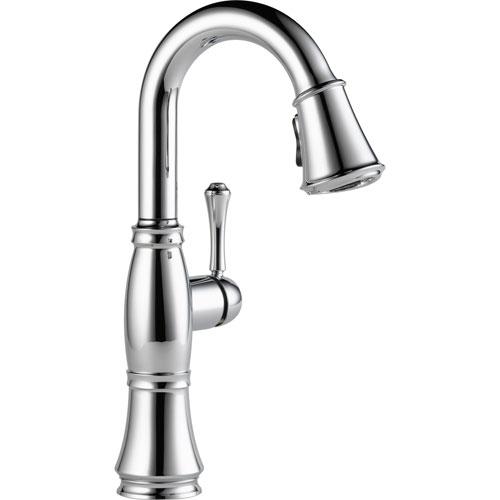 Delta Cassidy Chrome Finish Single Handle Pull-Down Sprayer Bar Faucet 579599