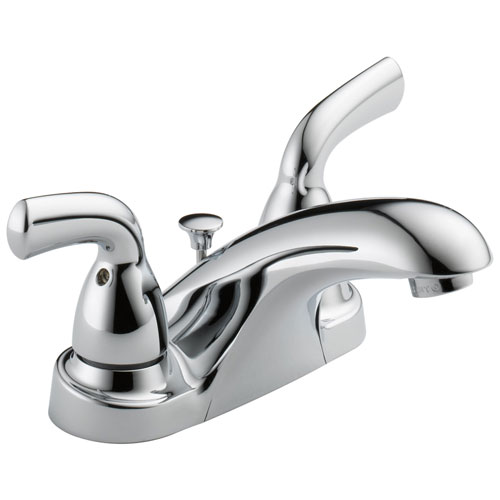 Delta Foundations Collection Chrome Finish Two Handle Centerset Lavatory Bathroom Sink Faucet 532542