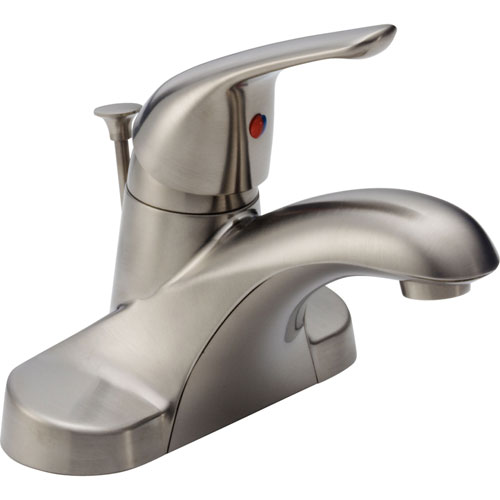 Delta Foundations Stainless Steel Finish Single Handle Centerset Faucet 550059