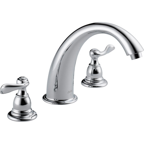 Delta Windemere Chrome Widespread Deck-Mount Roman Tub Faucet Trim Kit 522532