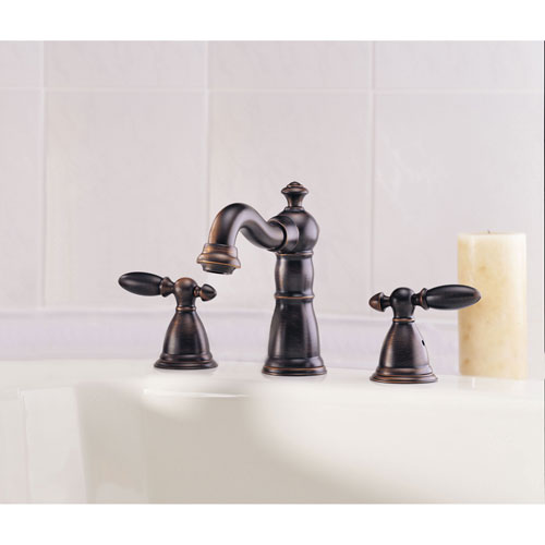 Delta Venetian Bronze Traditional Victorian Widespread Roman Tub Filler Faucet with Lever Handles INCLUDES Rough-in Valve Package D089CR